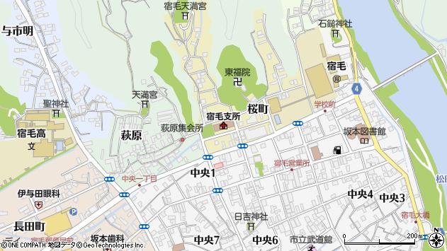 高知県宿毛市周辺の地図