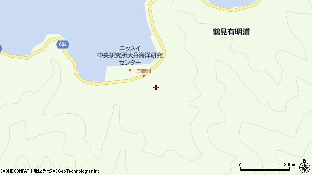 大分県佐伯市鶴見大字有明浦711周辺の地図
