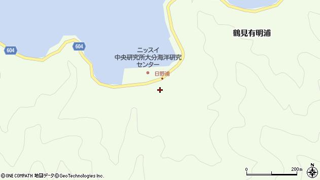 大分県佐伯市鶴見大字有明浦508周辺の地図