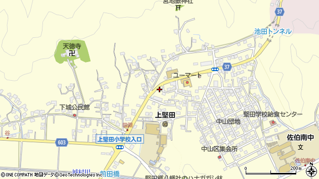 大分県佐伯市長谷9064周辺の地図