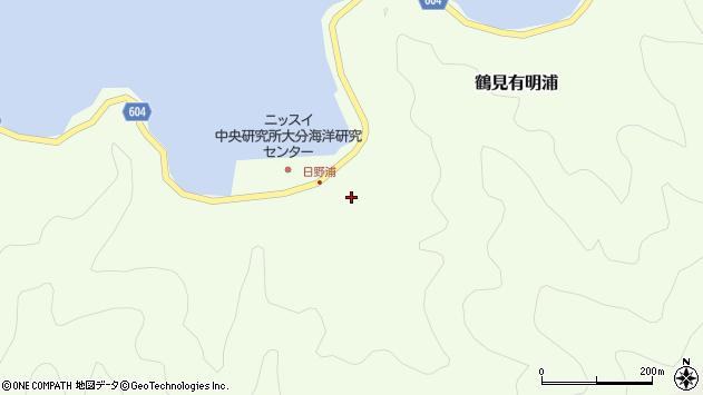 大分県佐伯市鶴見大字有明浦720周辺の地図
