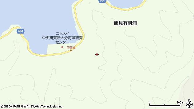 大分県佐伯市鶴見大字有明浦日野浦周辺の地図
