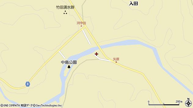 大分県竹田市入田1382周辺の地図