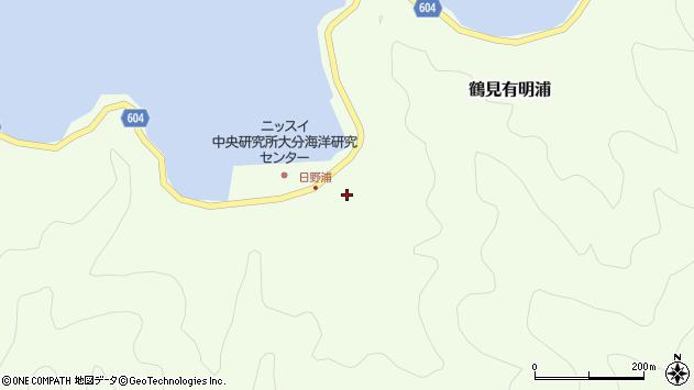 大分県佐伯市鶴見大字有明浦719周辺の地図