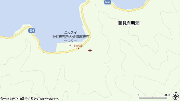 大分県佐伯市鶴見大字有明浦2周辺の地図