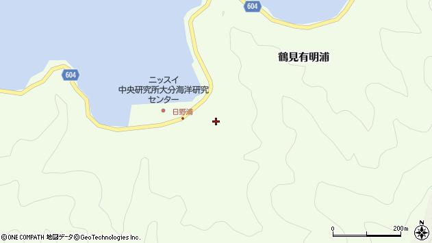 大分県佐伯市鶴見大字有明浦728周辺の地図
