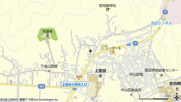 大分県佐伯市長谷9192周辺の地図