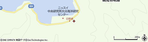 大分県佐伯市鶴見大字有明浦713周辺の地図