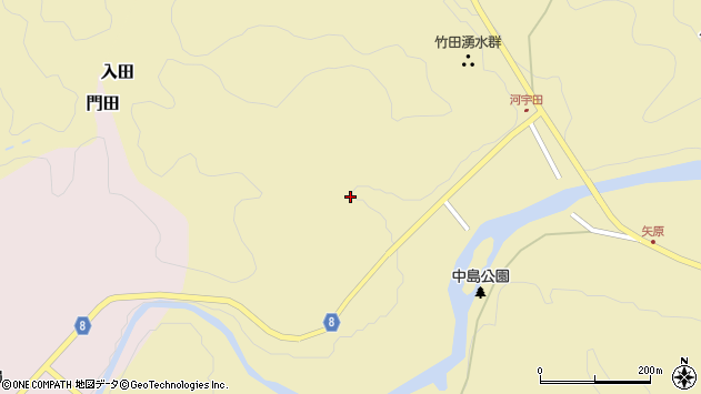 大分県竹田市入田105周辺の地図