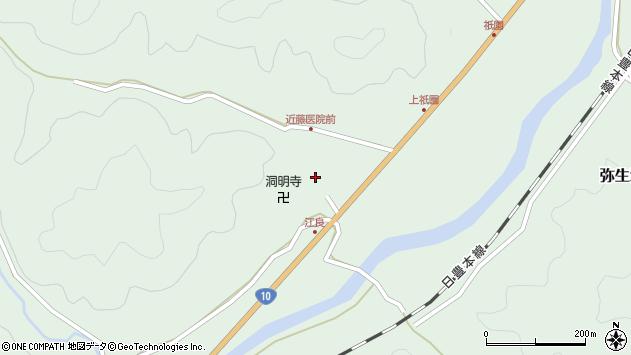 大分県佐伯市弥生大字江良1052周辺の地図
