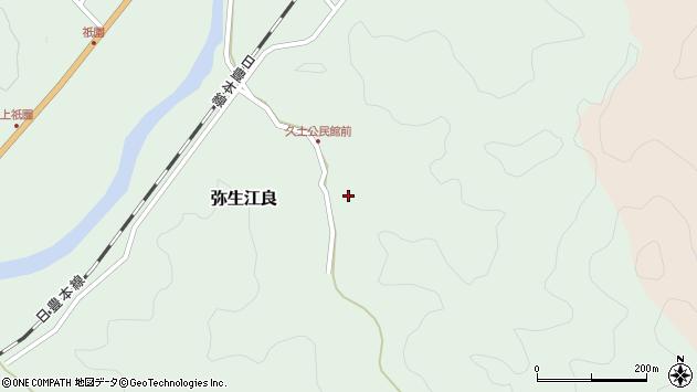 大分県佐伯市弥生大字江良2673周辺の地図