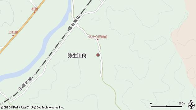 大分県佐伯市弥生大字江良2677周辺の地図