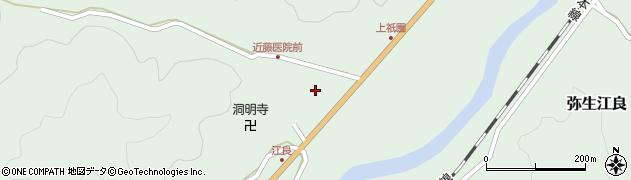 大分県佐伯市弥生大字江良1071周辺の地図