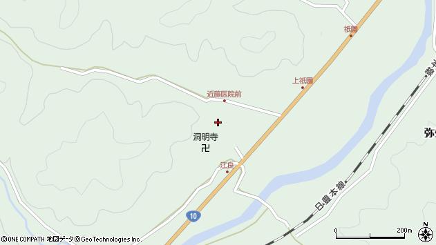 大分県佐伯市弥生大字江良1081周辺の地図