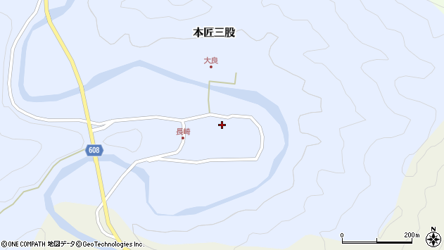 大分県佐伯市本匠大字三股1150周辺の地図