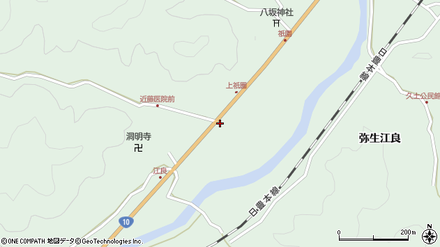大分県佐伯市弥生大字江良1382周辺の地図