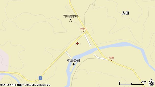 大分県竹田市入田8周辺の地図