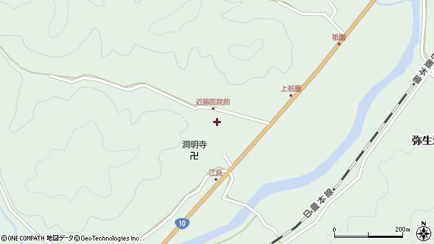 大分県佐伯市弥生大字江良1077周辺の地図
