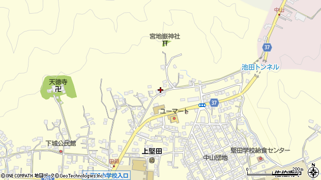 大分県佐伯市長谷9039周辺の地図