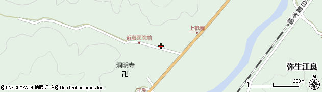 大分県佐伯市弥生大字江良1364周辺の地図