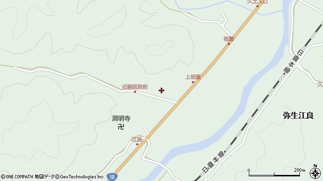大分県佐伯市弥生大字江良1362周辺の地図