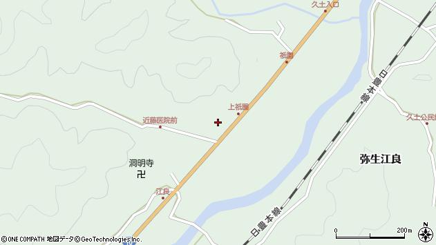 大分県佐伯市弥生大字江良1390周辺の地図