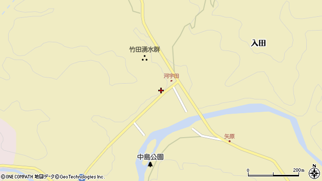 大分県竹田市入田42周辺の地図