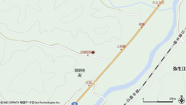 大分県佐伯市弥生大字江良1349周辺の地図