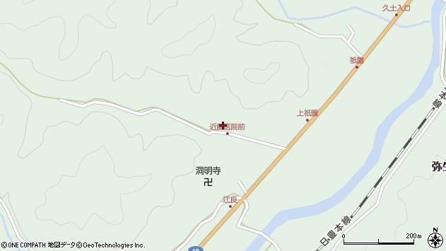 大分県佐伯市弥生大字江良1344周辺の地図
