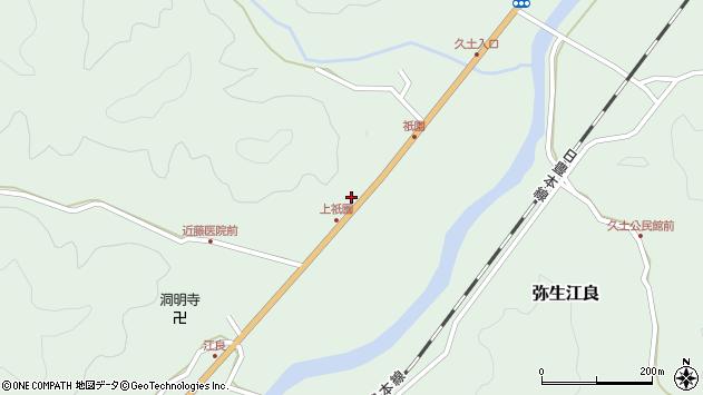 大分県佐伯市弥生大字江良1405周辺の地図
