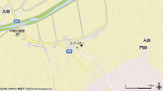 大分県竹田市吉田2225周辺の地図