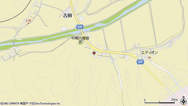 大分県竹田市吉田2023周辺の地図