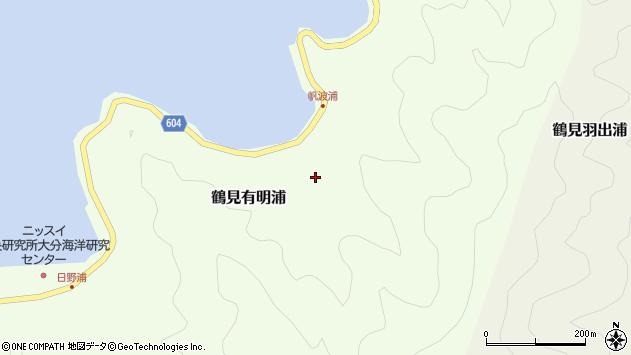 大分県佐伯市鶴見大字有明浦1070周辺の地図