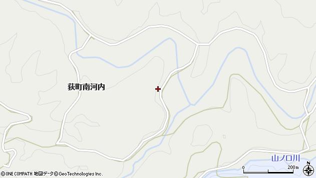 大分県竹田市荻町南河内周辺の地図