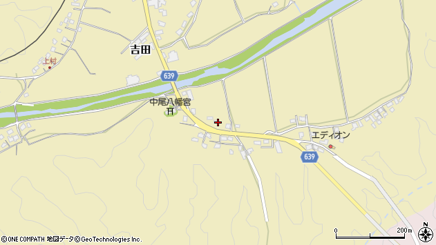 大分県竹田市吉田2052周辺の地図