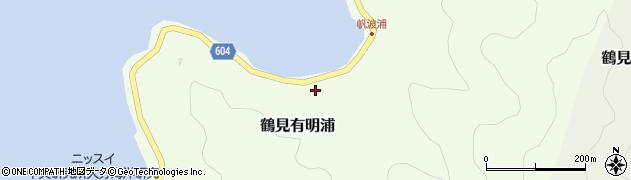 大分県佐伯市鶴見大字有明浦887周辺の地図