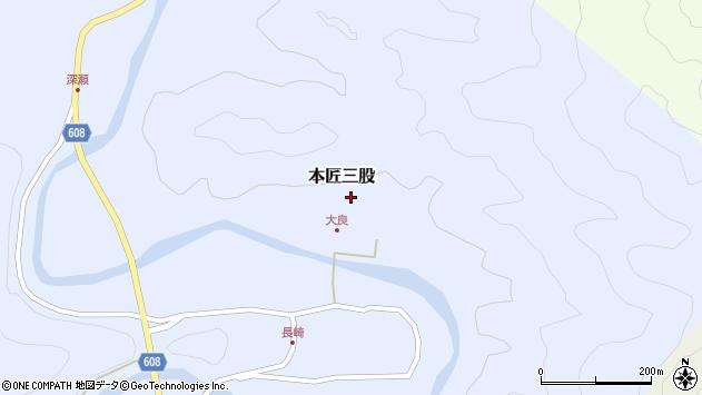 大分県佐伯市本匠大字三股1528周辺の地図