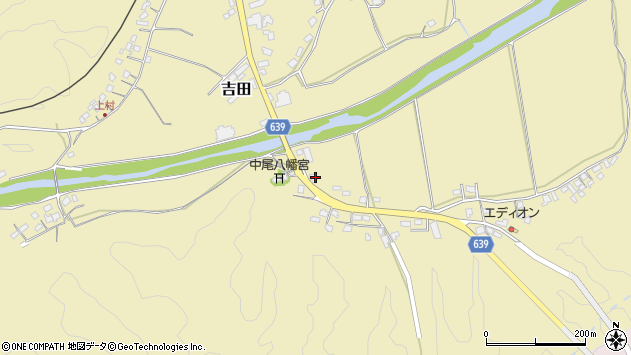 大分県竹田市吉田2037周辺の地図
