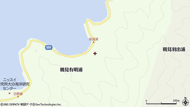 大分県佐伯市鶴見大字有明浦1078周辺の地図