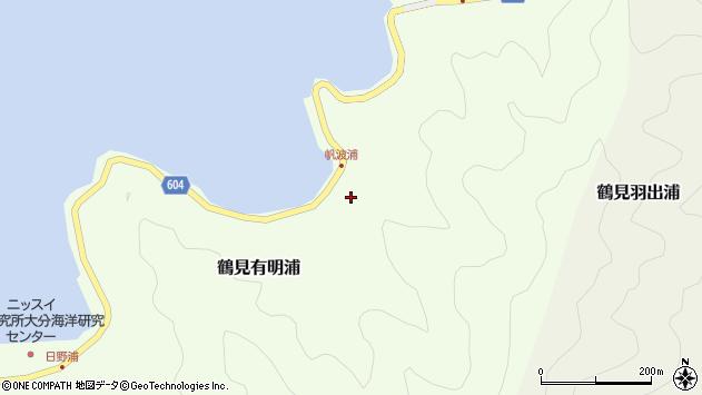 大分県佐伯市鶴見大字有明浦1082周辺の地図