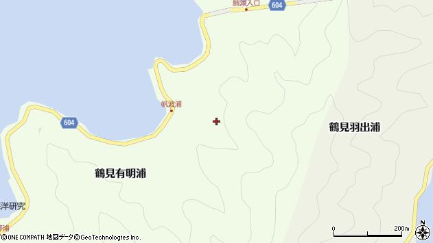 大分県佐伯市鶴見大字有明浦帆波浦周辺の地図