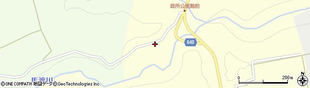 大分県竹田市荻町政所585周辺の地図