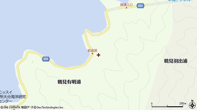 大分県佐伯市鶴見大字有明浦1149周辺の地図