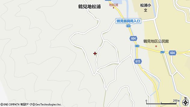 大分県佐伯市鶴見大字地松浦1262周辺の地図
