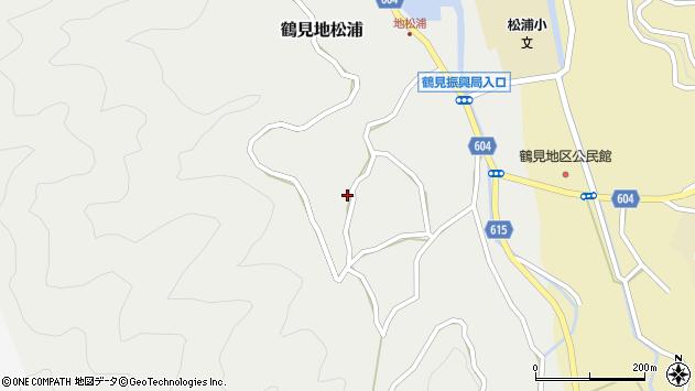 大分県佐伯市鶴見大字地松浦1265周辺の地図