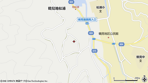 大分県佐伯市鶴見大字地松浦1294周辺の地図