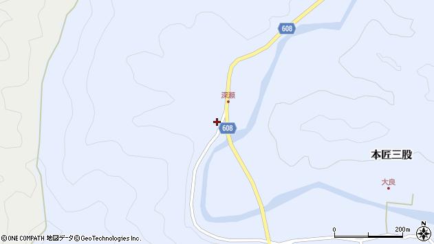 大分県佐伯市本匠大字三股901周辺の地図