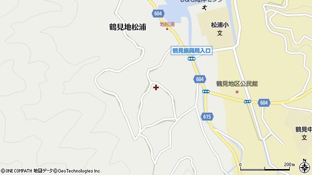 大分県佐伯市鶴見大字地松浦1284周辺の地図