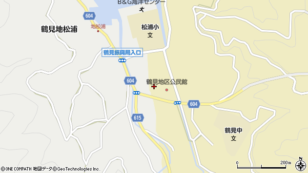 大分県佐伯市鶴見大字地松浦1961周辺の地図