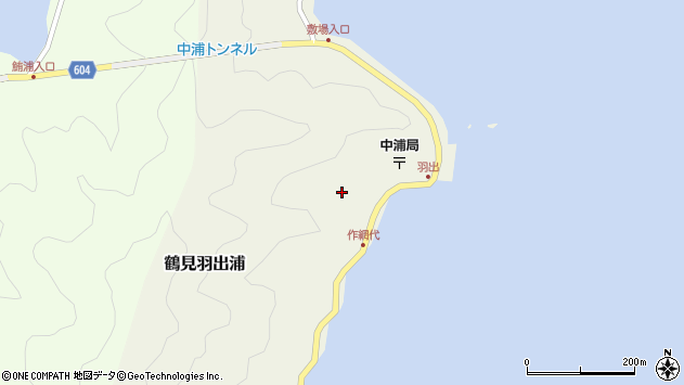 大分県佐伯市鶴見大字羽出浦456周辺の地図